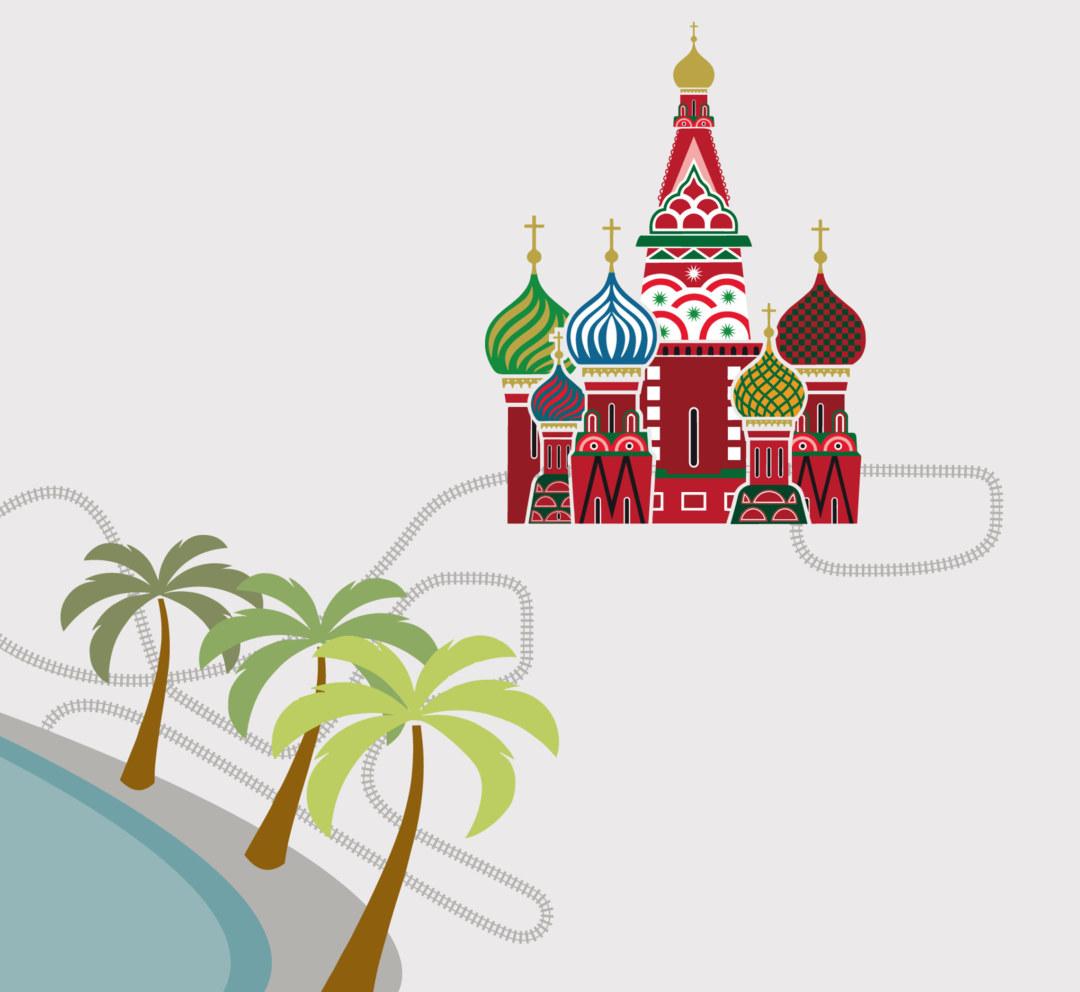Mit gut 3.000 Kilometern ist Moskau–Nizza die längste direkte Zugverbindung durch Europa.