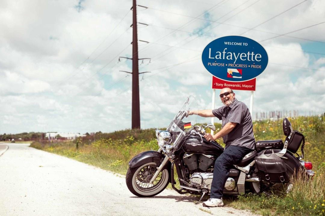 Wörwag Lafayette: Bob Malady betreut die Produktion der Hydrobasislacke. Auf dem Bike gibt er Gas.