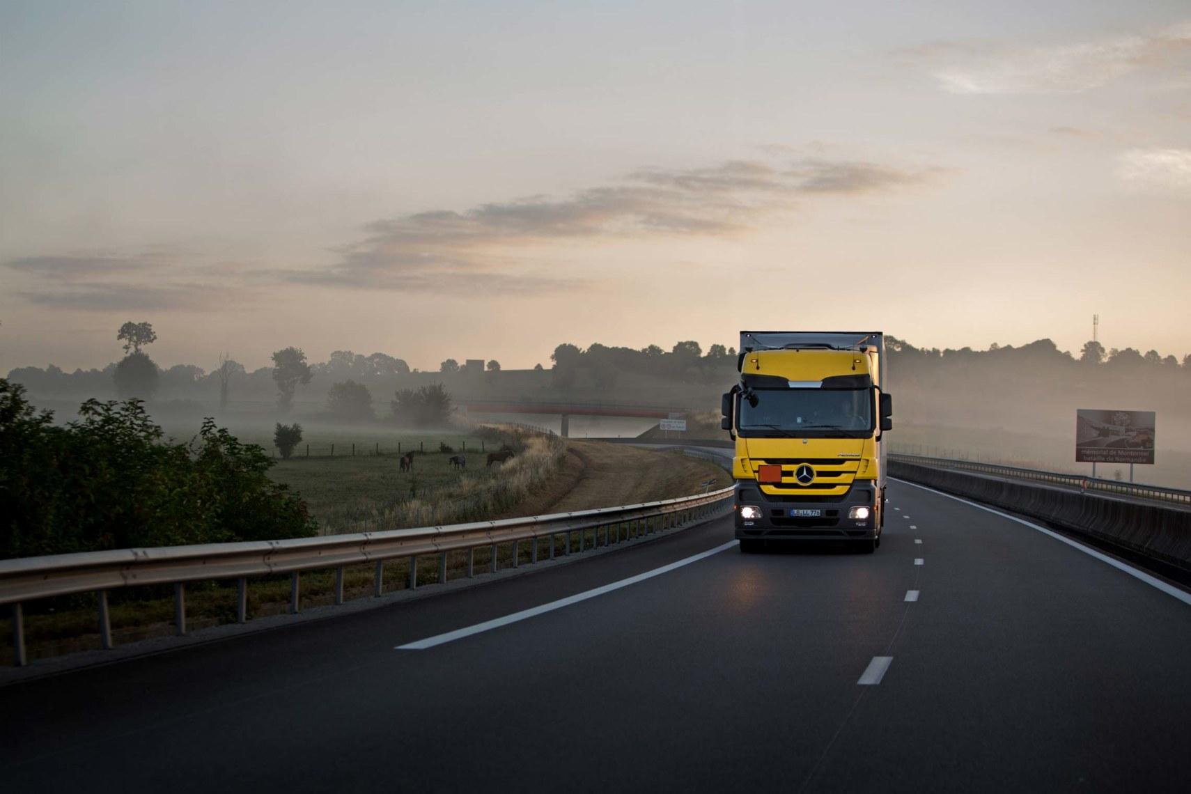 Täglich neun Stunden auf Achse: Im Auftrag von Wörwag hat Nesner schon eine Million Kilometer zurückgelegt. ©Toby Binder
